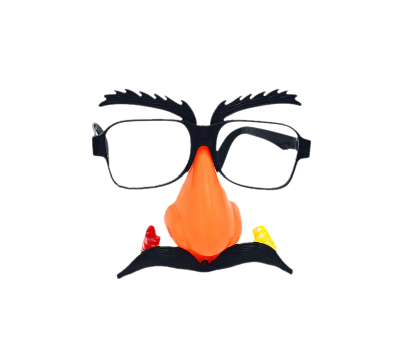 Clown glasses png. Wechat mask taobao funny