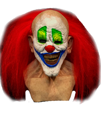 Clown hair png. Half cocked silicone mask