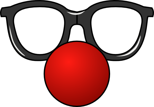 Clown hair png. Nose with glasses clip