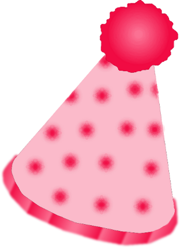 Clown hat png. Pink by clipartcotttage on