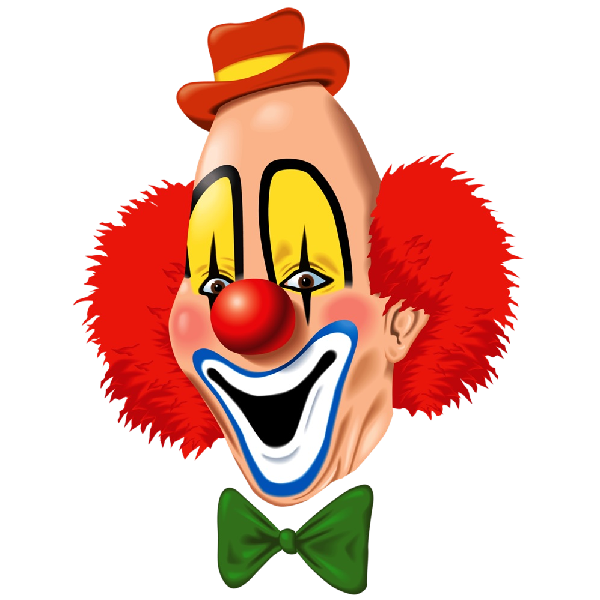 Party clowns and balloons. Transparent clown clipart freeuse library