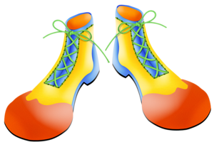 Clown shoes png. The circus is coming