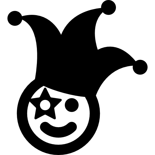 Clown silhouette png. Icon page svg