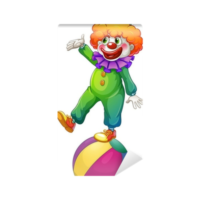 Clown standing png. A above the ball