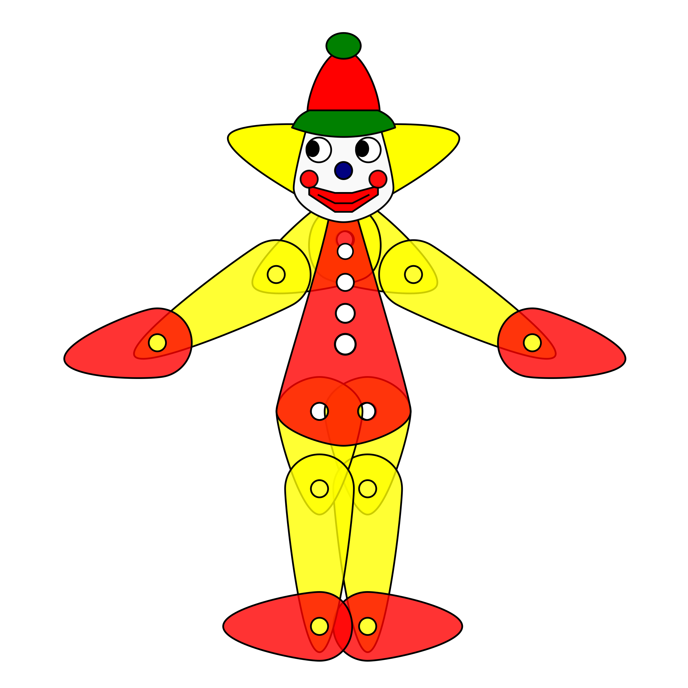 Clown standing png. Toy puppet animation icons