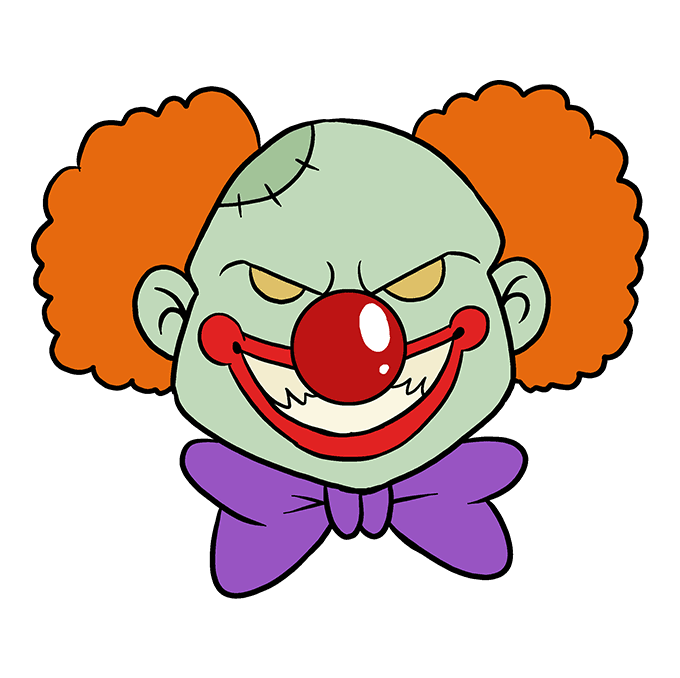 Clowns drawing beginner. How to draw a