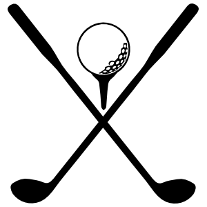 Club clipart golf ball tee. And with clubs sticker