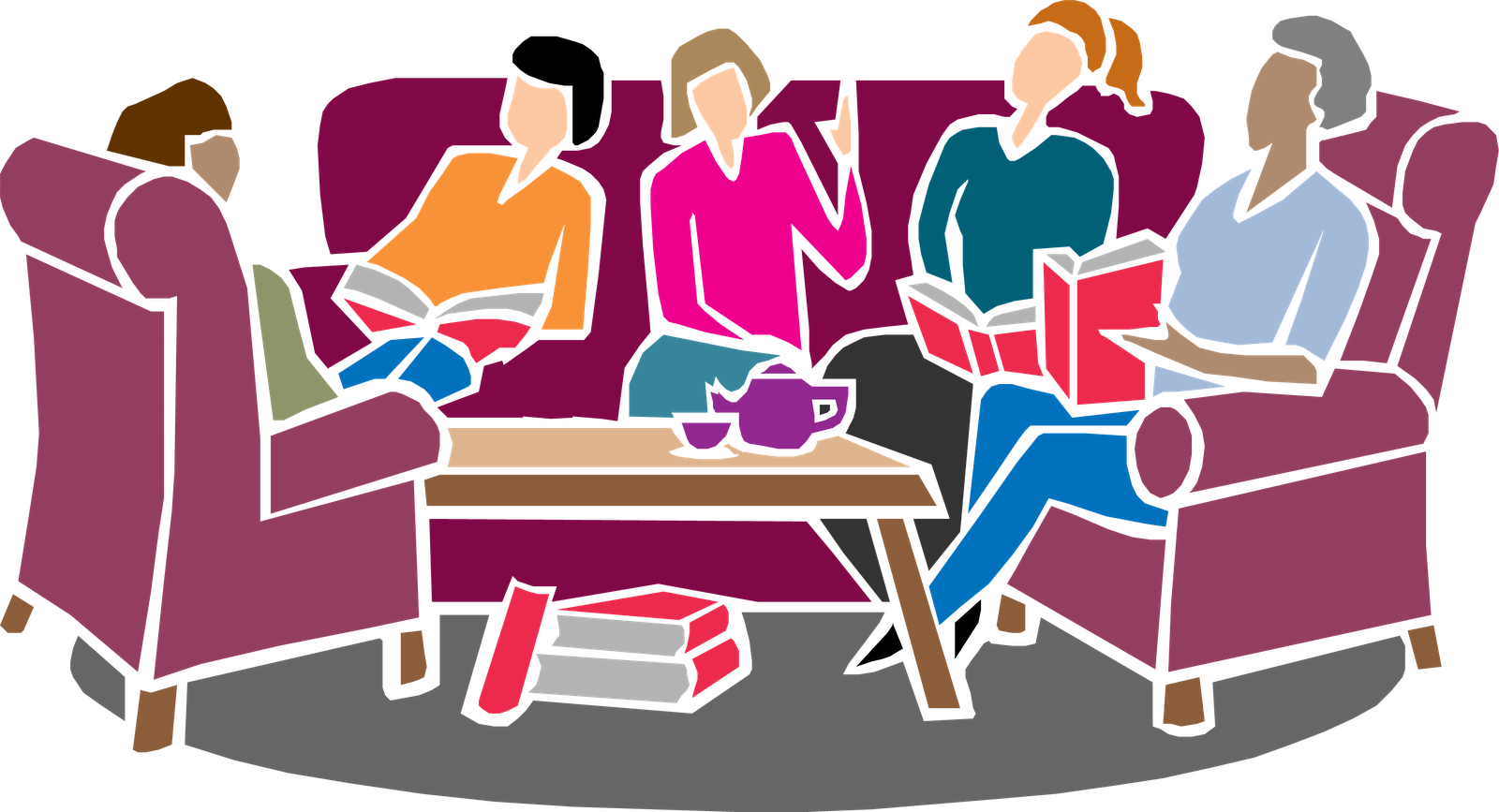 Club clipart group bible study. Book
