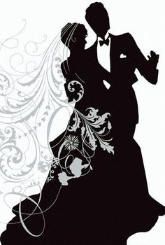 Club clipart wedding dancing. A black and white