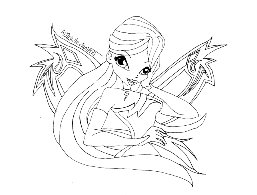 Club drawing line art. Winx by inlovewithyaoi on