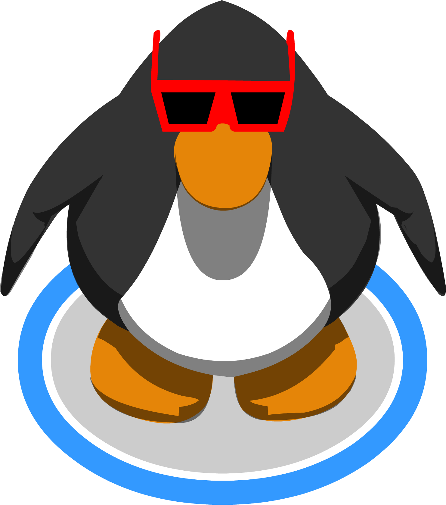 Club penguin penguin png. Image rookies sunglasses ig