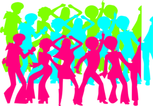 s sihlouettes clip. Club vector crowd dancing clip royalty free library