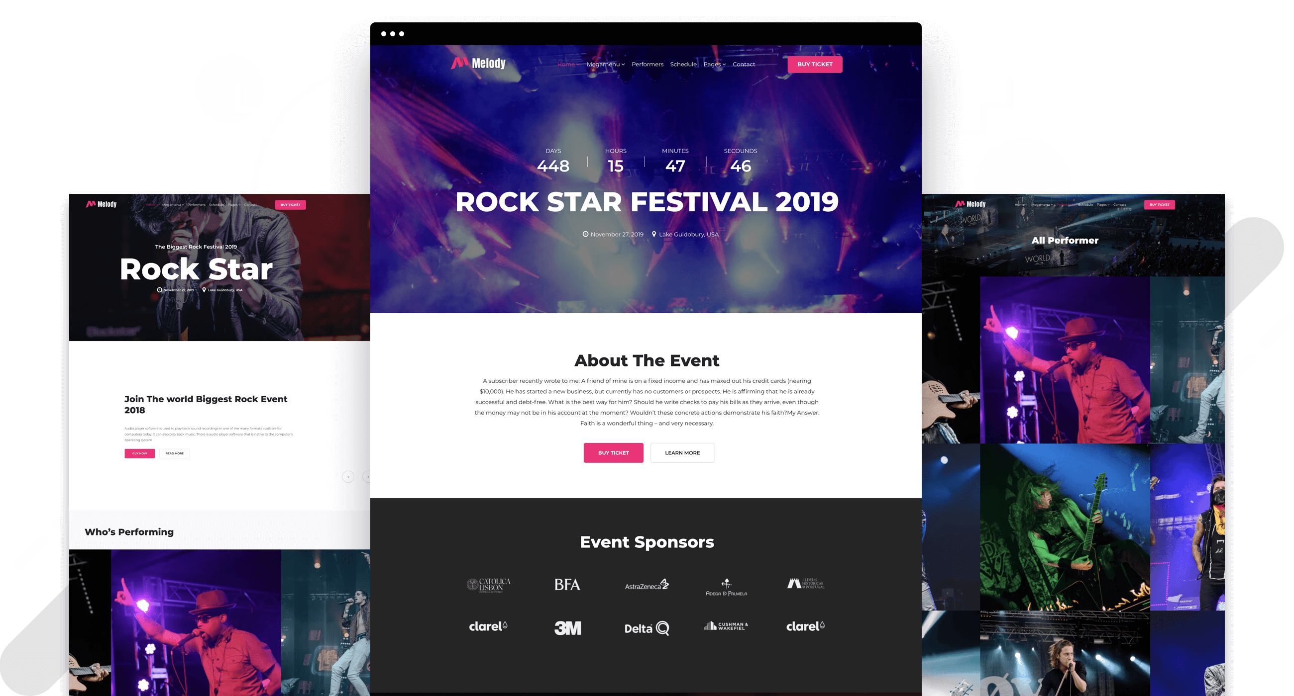 Us vector event management. Melody music theme for