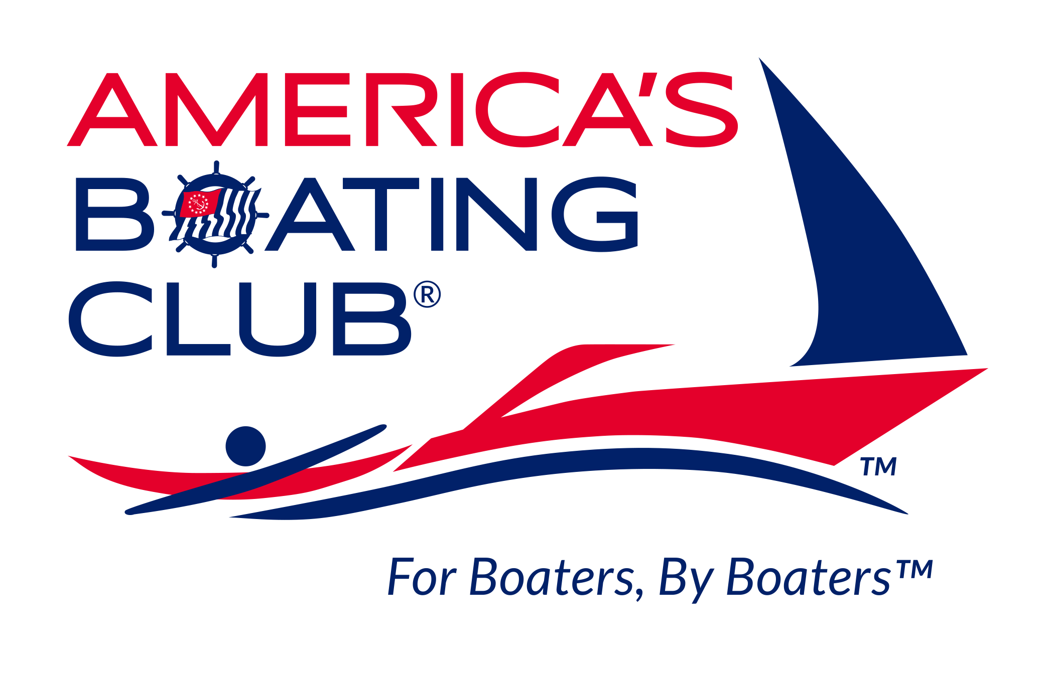 Club vector modern. America s boating clearwater