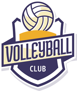 Club vector template. Volleyball logo ai free