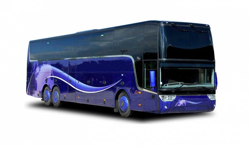 Coach drawing bus. Vehicle van hool altano