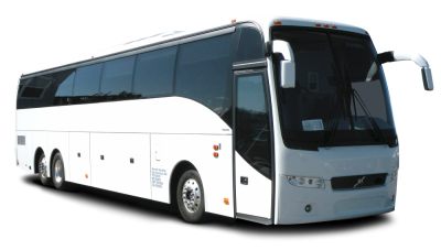 Coach drawing bus. Passenger charter rental
