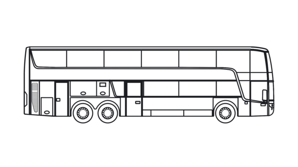 Coach drawing bus. Tx astromega top class