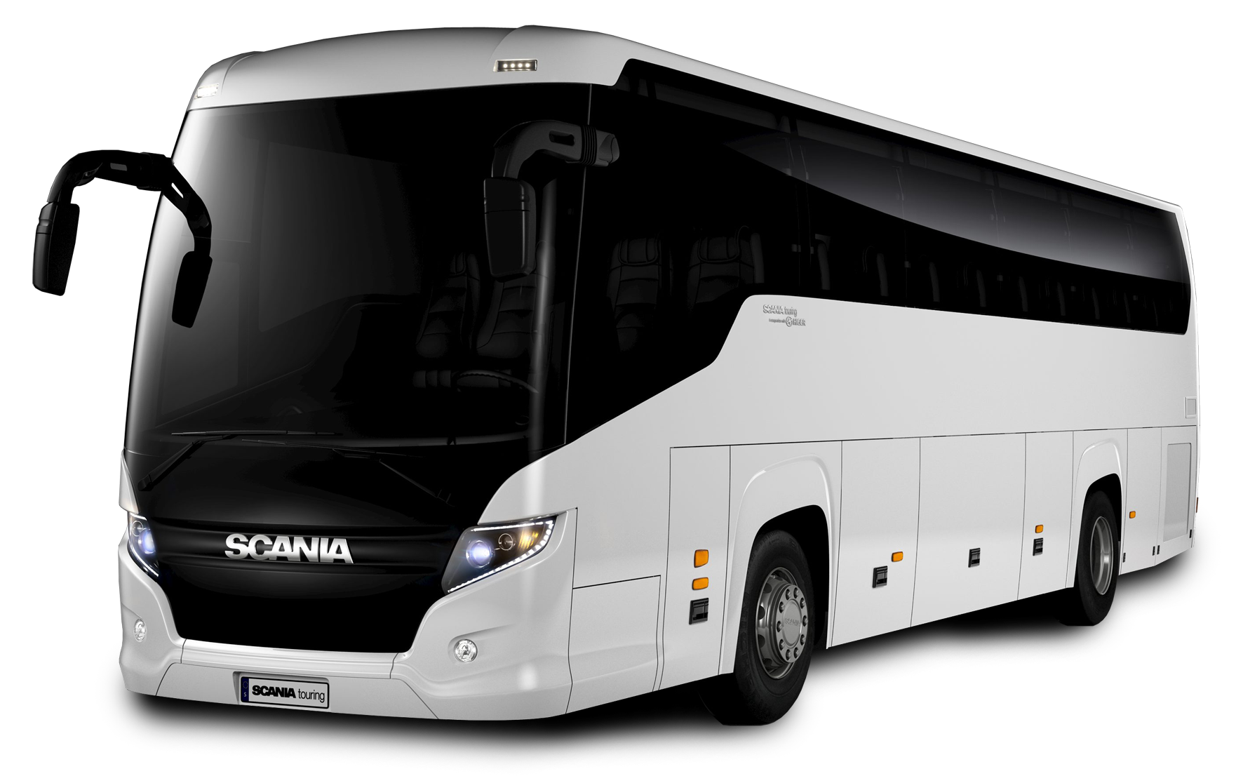 Coach drawing bus scania. Industrial vehicles in india