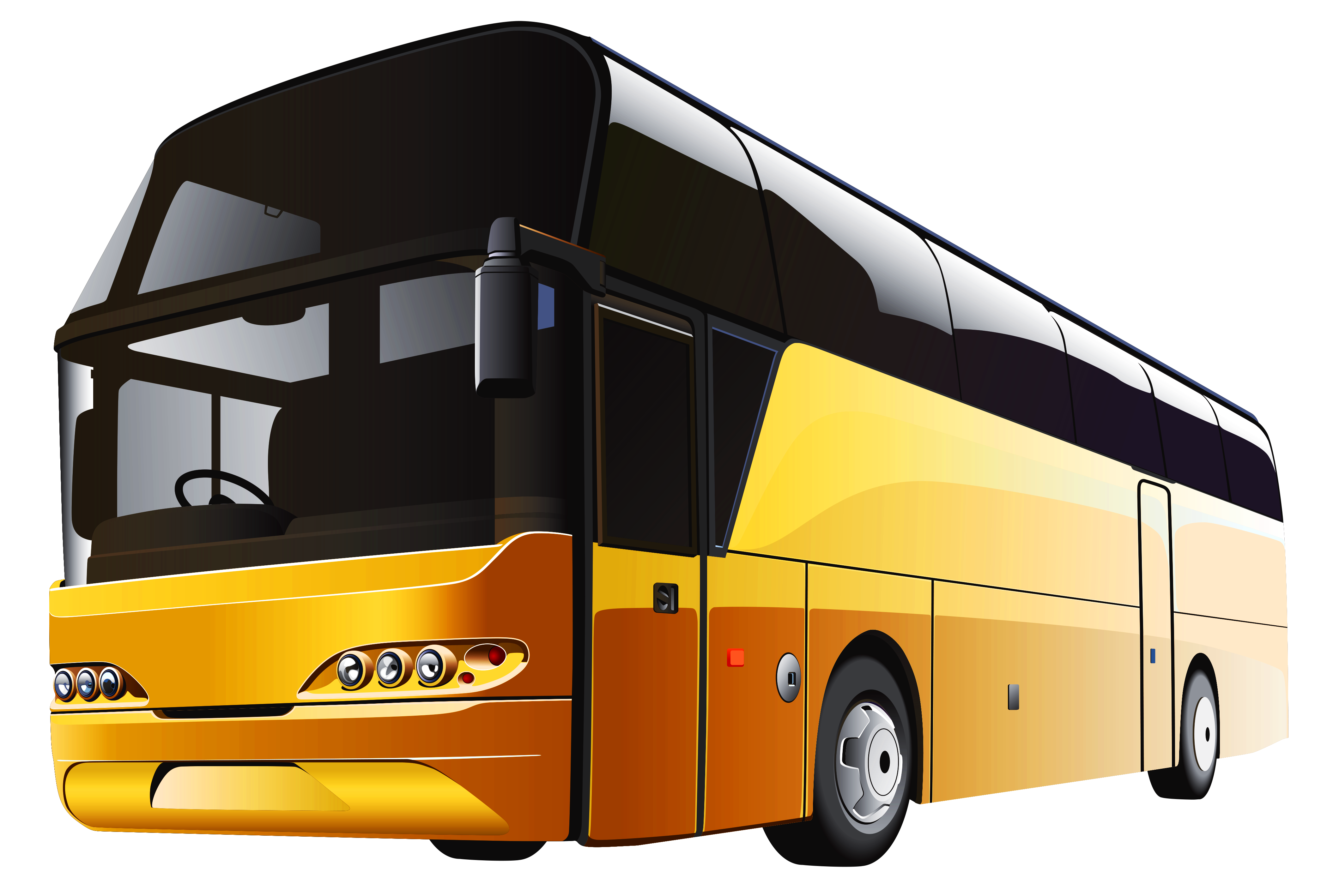 Coach drawing bus scania. Yellow png clipart pictures
