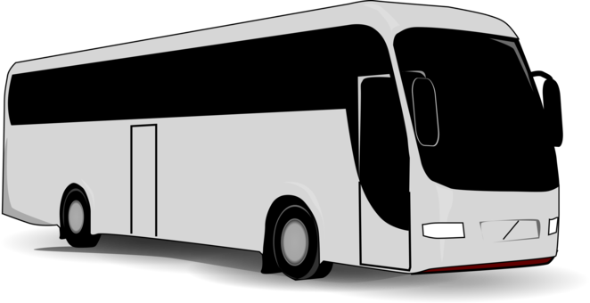Coach drawing shuttle bus. Transit airport school greyhound