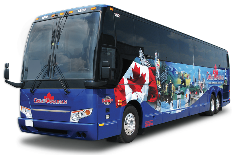 Coach drawing tourist bus. Great canadian coaches ontario