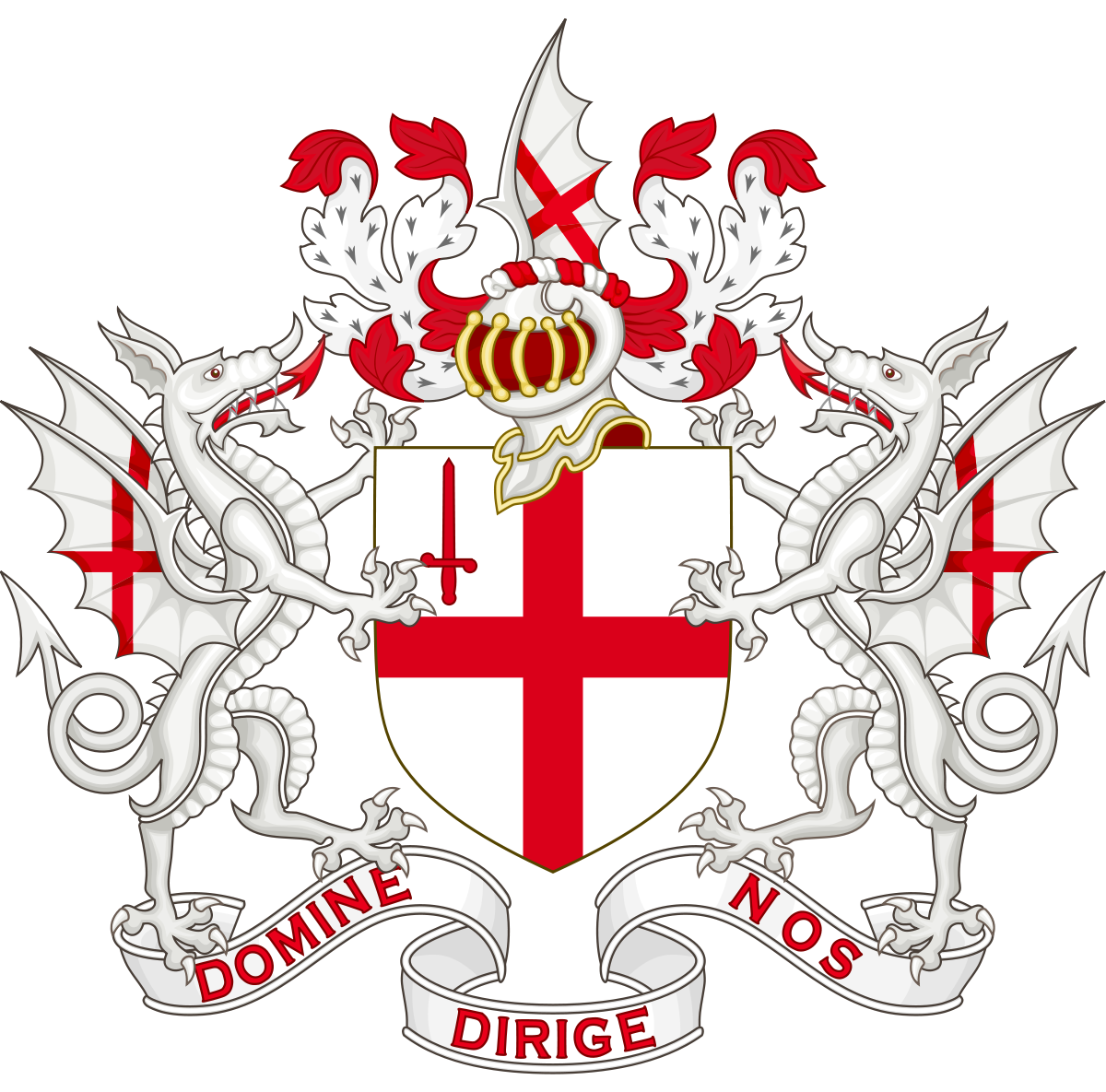 Coat of arms banner png. The city london wikipedia