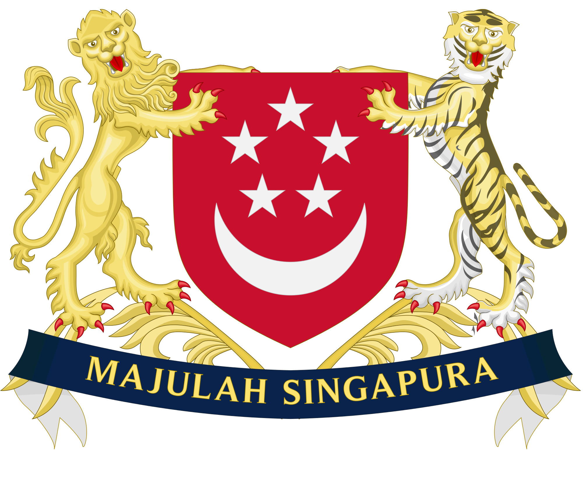 Coat of arms banner png. File singapore improved svg