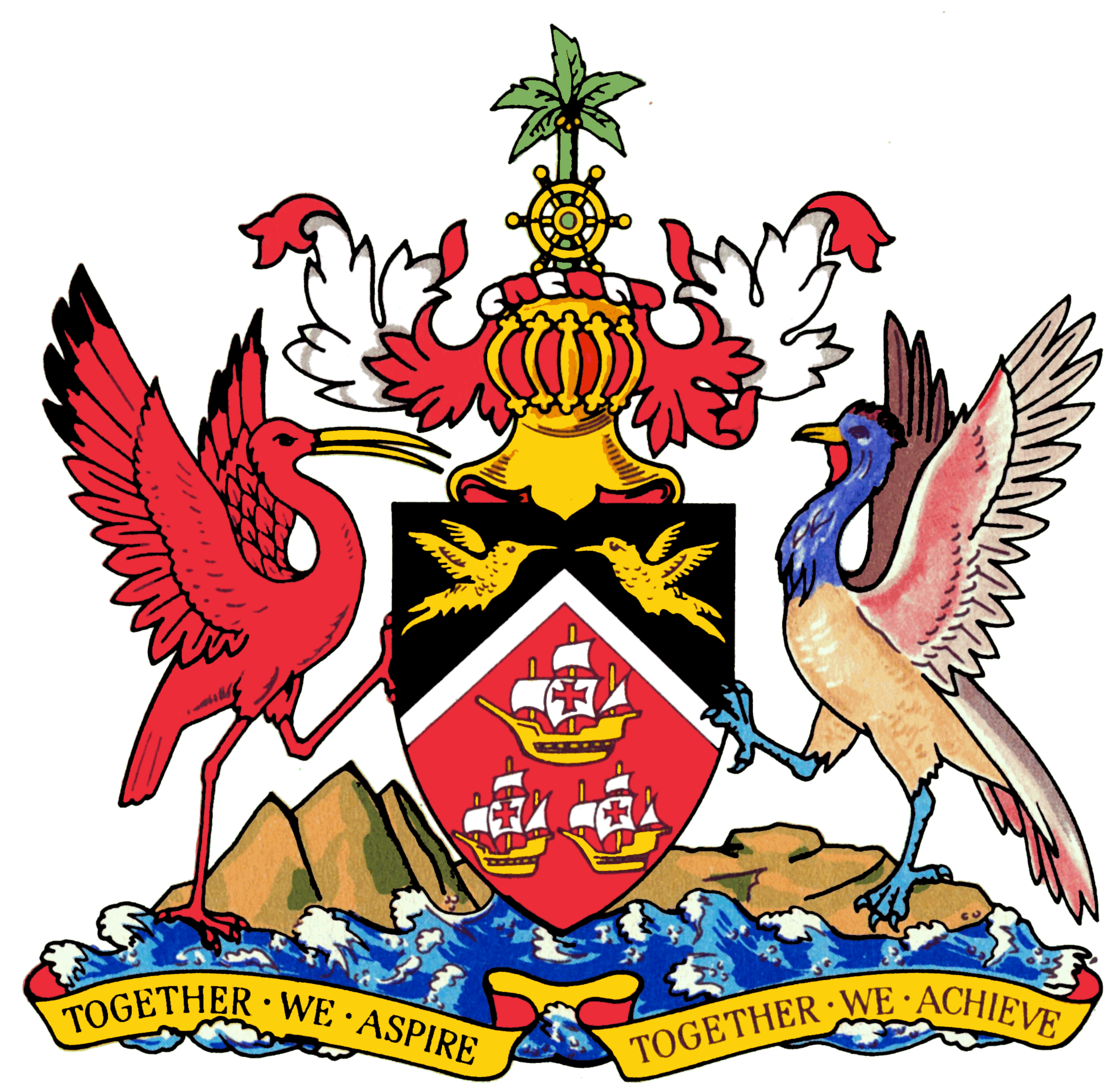 Coat of arms png. File trinidad and tobago