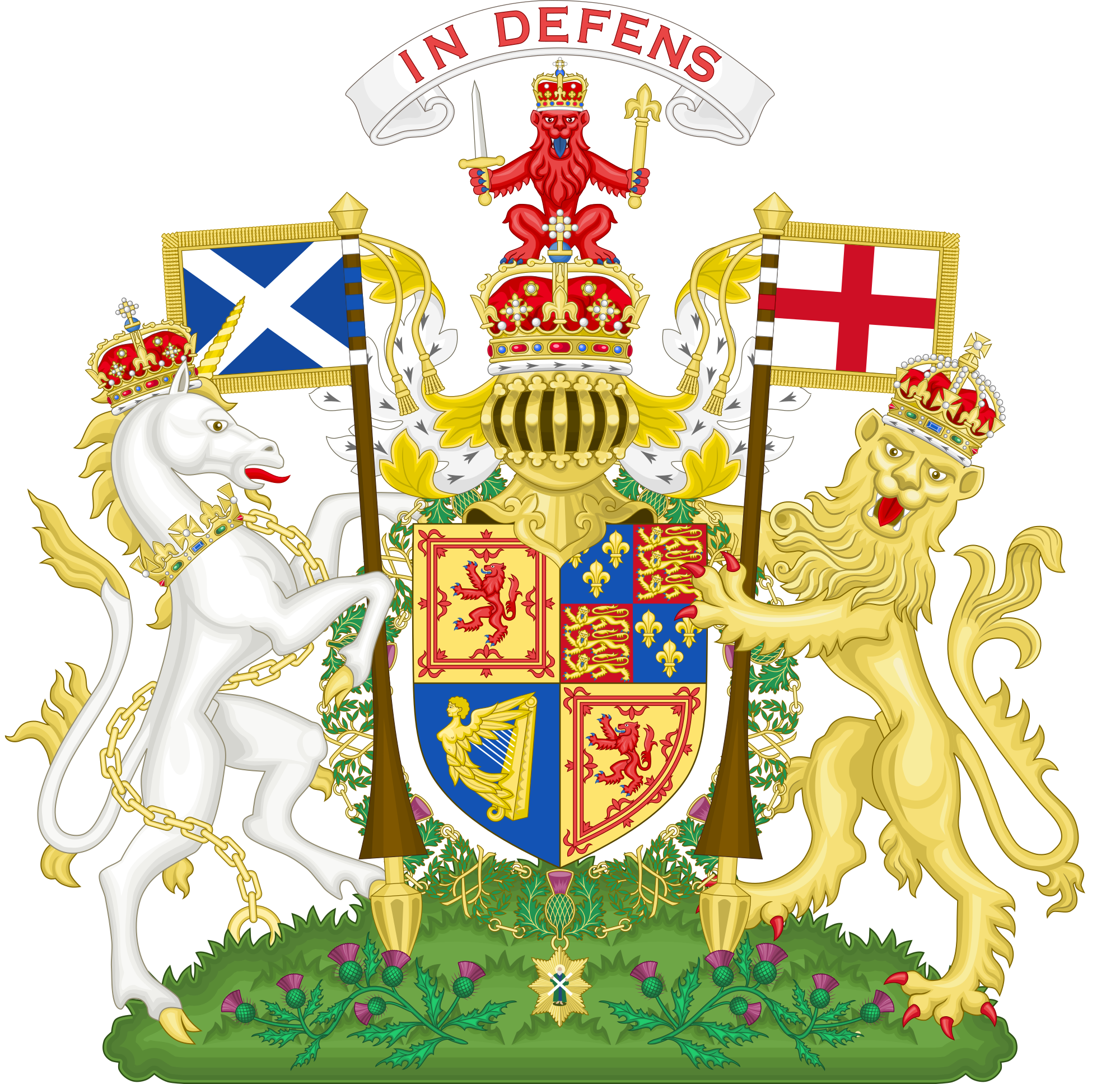 Heraldry vector royal crest. Arms of scotland wikipedia