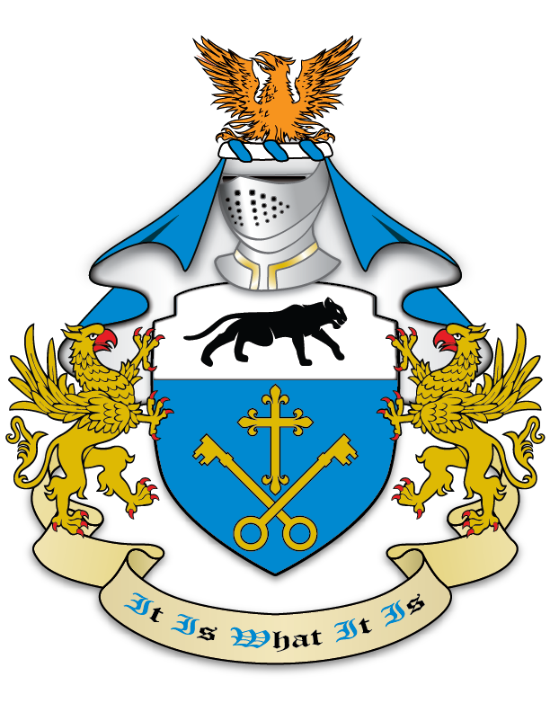 coat of arms with two swords crossing png