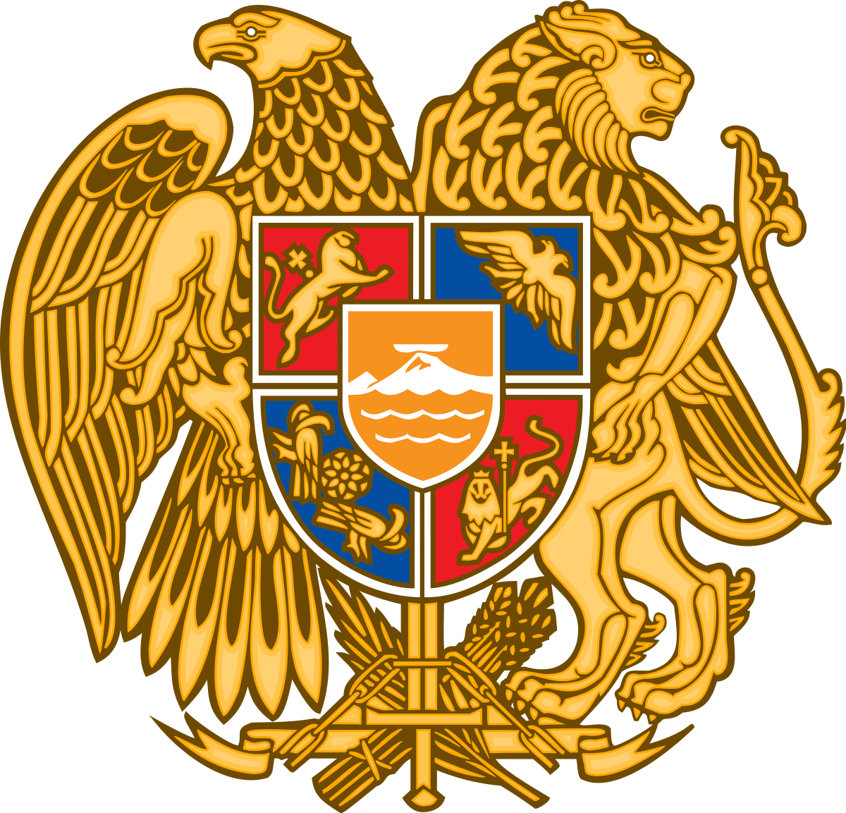 Coat of arms with two swords crossing png. Armenia wikipedia