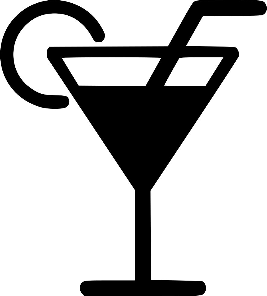 Martini icon png. Glass drink cocktail straw