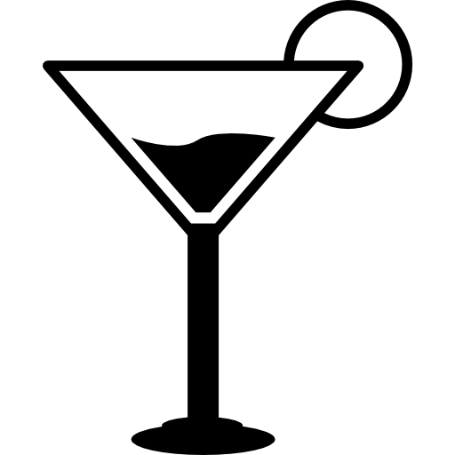 Cocktail free food icons. Martini glass silhouette png clip art library download