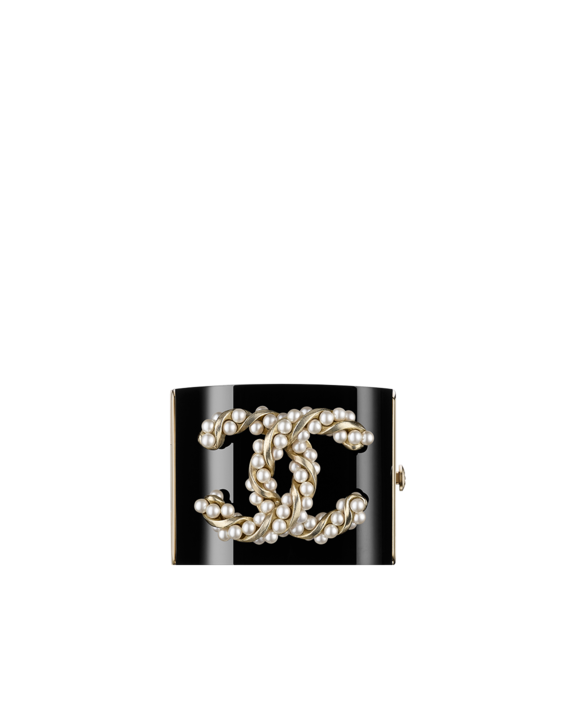 Coco chanel bling png. Resin cuff embellished with