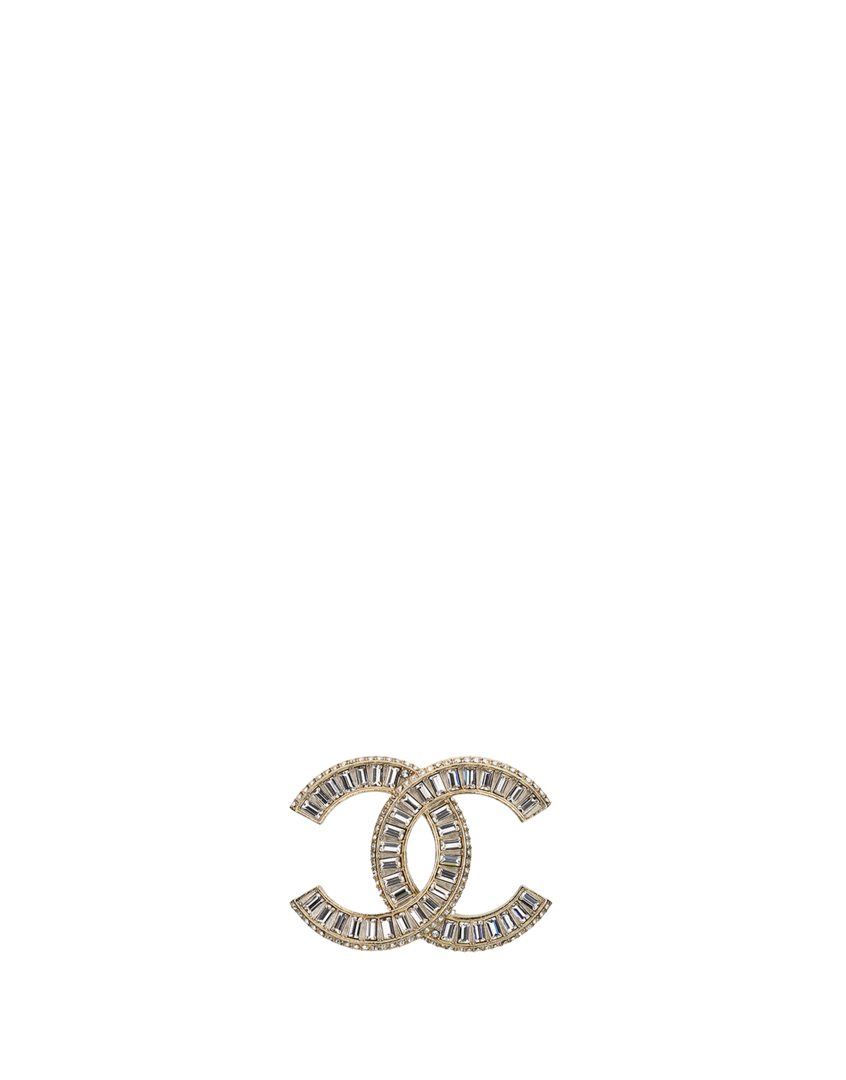 Coco chanel bling png. Brosche aus metall mit
