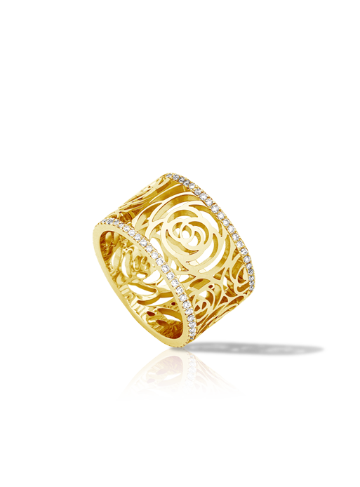 Coco chanel bling png. Camellia collection ring ready