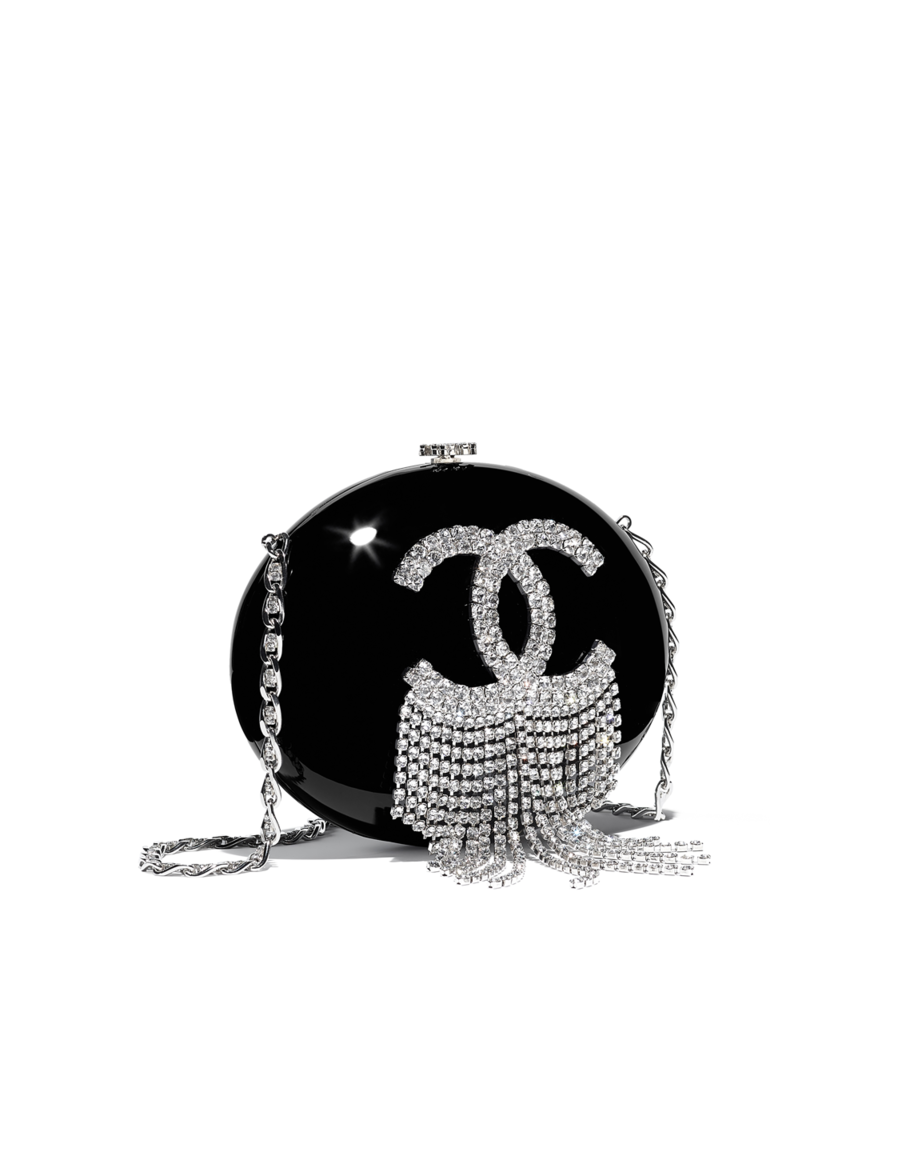 Coco chanel bling png. Minaudiere resin stass silver