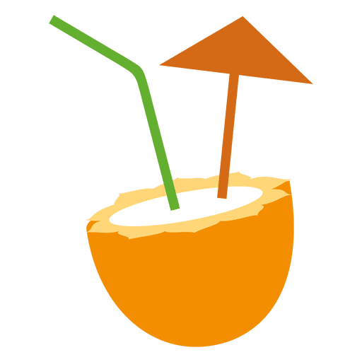 Coco em png. Coconut cocktail transparent svg