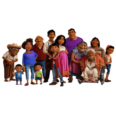 Coco family png. Miguel sitting on wooden