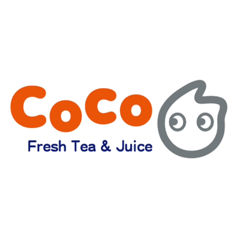 Fresh tea juice delivery. Coco logo png image