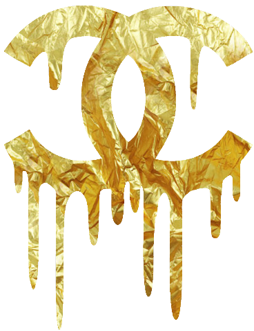 Coco mademoiselle logo png. Chanel dripping gold more