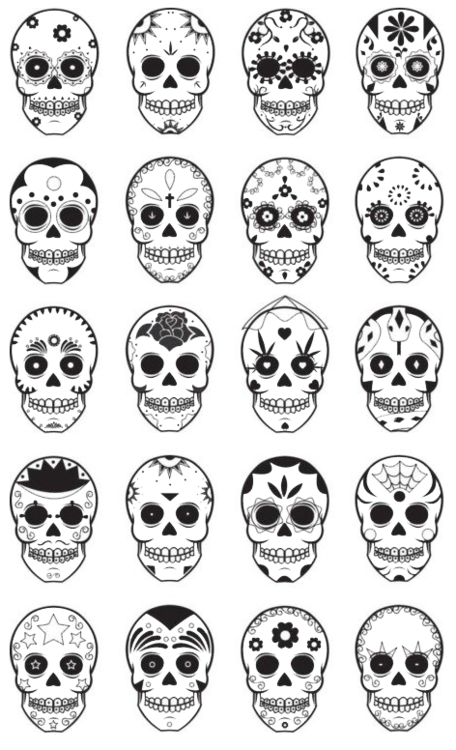 sublime drawing skull