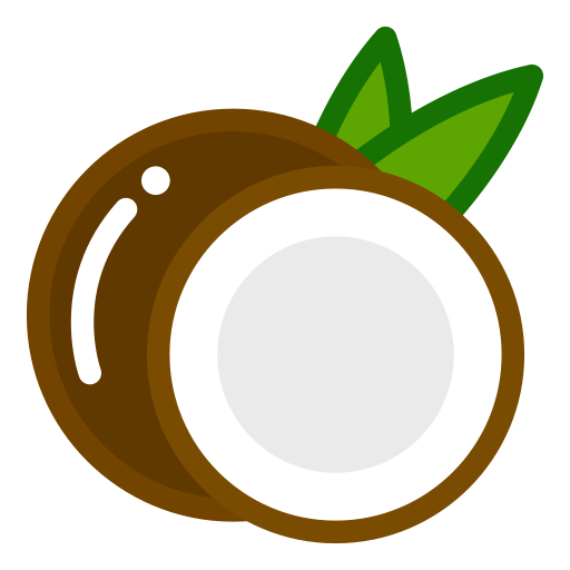 Coconut clipart coconut bunch. Cooking food icon with