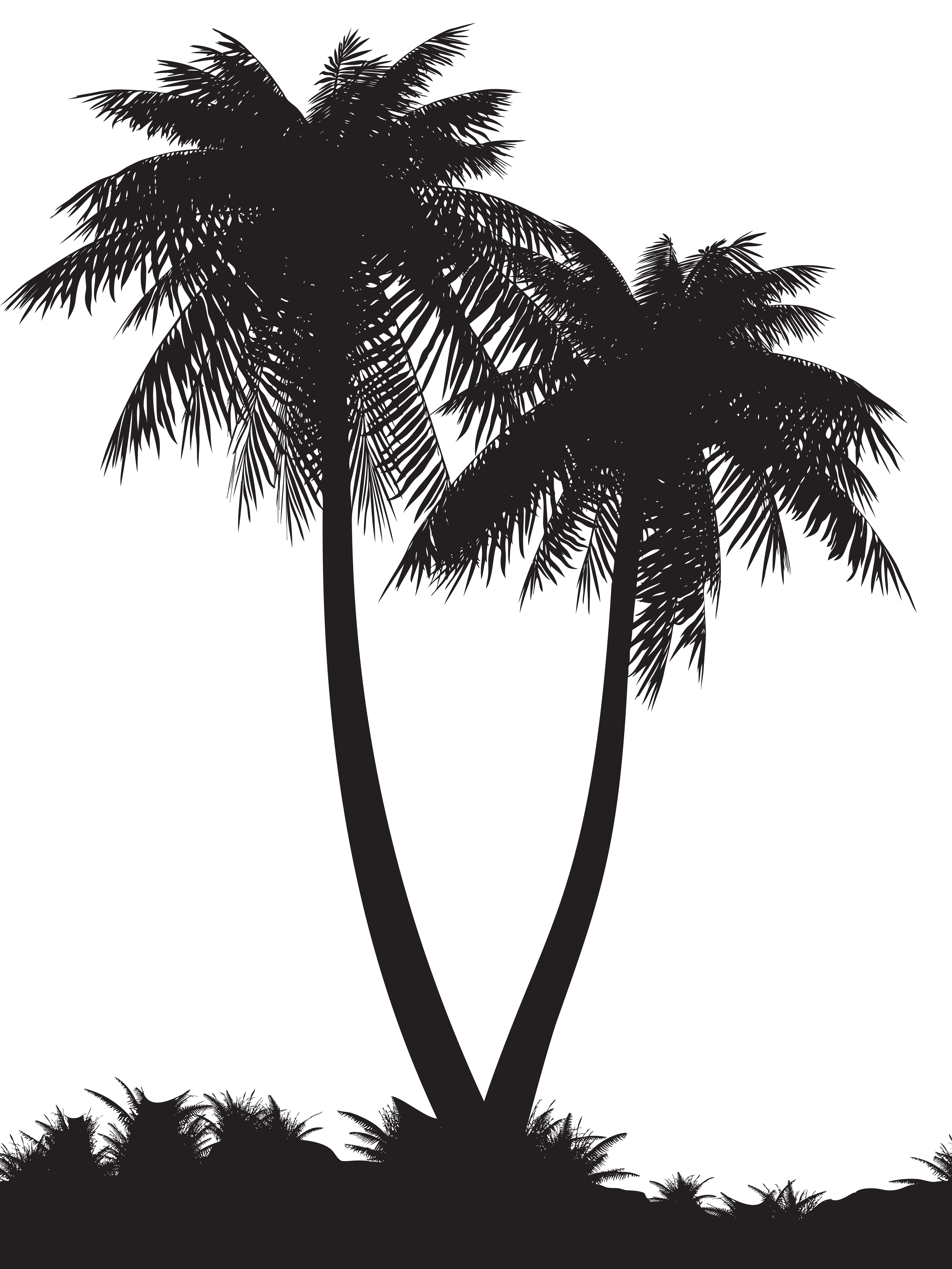 Palm tree silhouette png. Trees clip art image