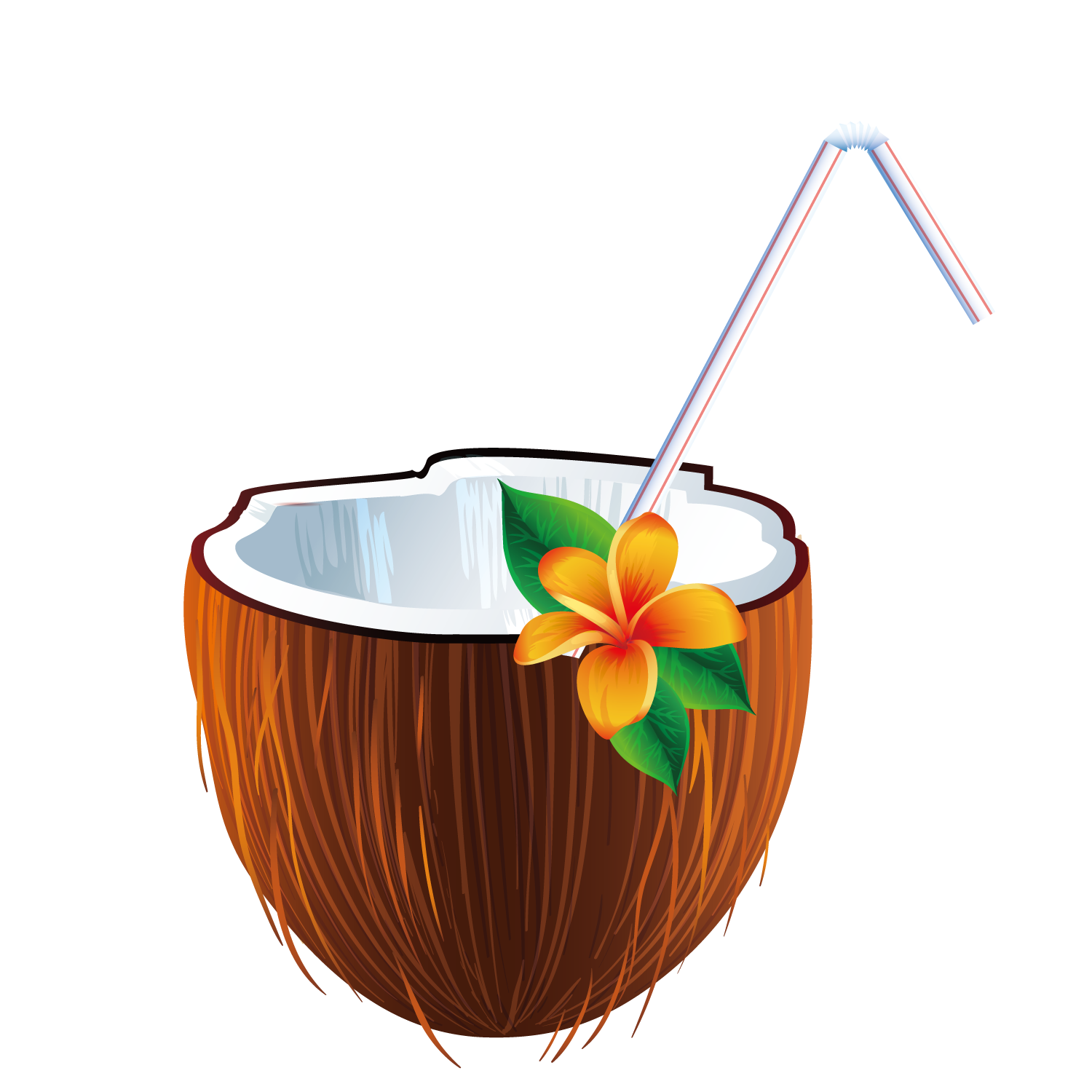 Coconut drink png. Cocktail pi a colada