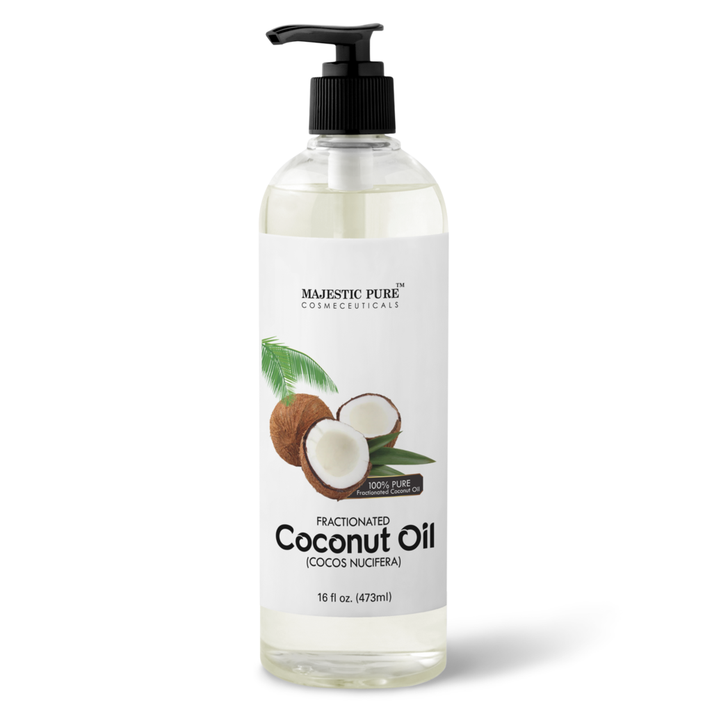 Coconut oil png. Fractionated majestic pure