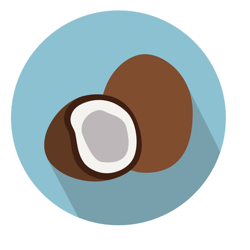 Coconut vector png. Circle icon transparent svg