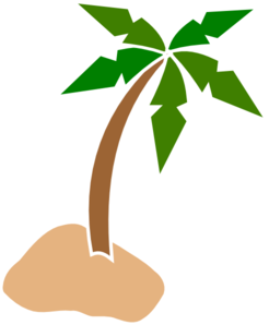 Coconuts vector cartoon. Coconut tree clip art