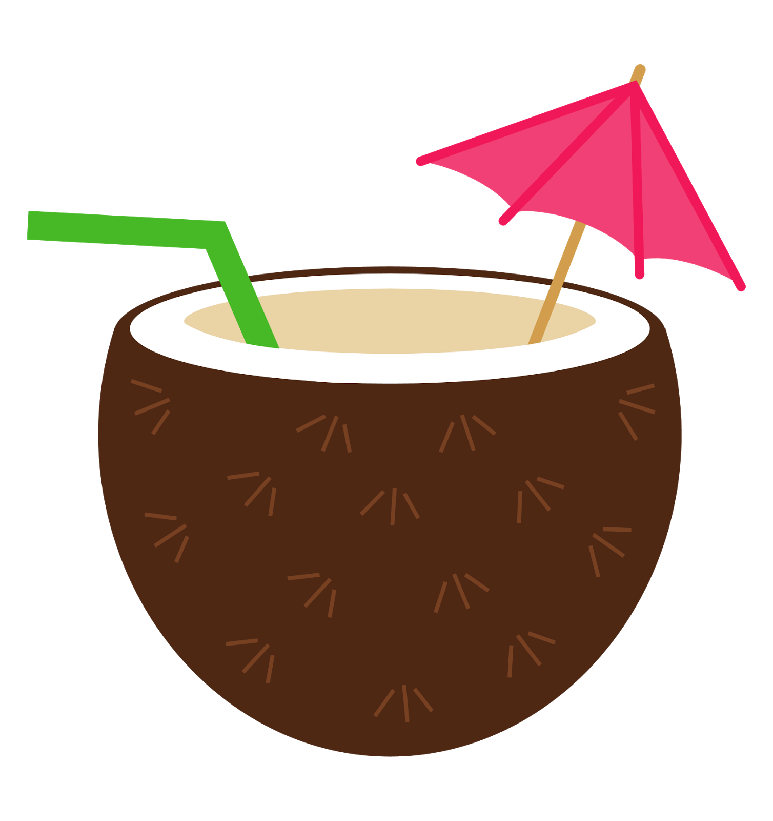 Coconuts vector coconut drink. Collection of free cocoanut